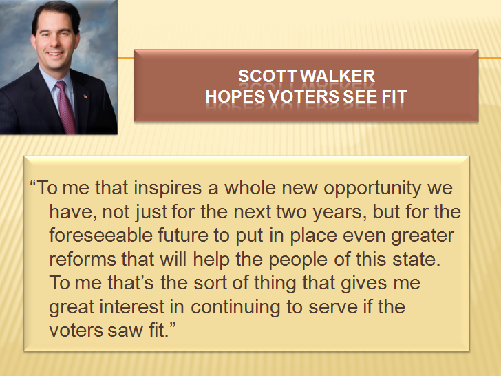 Quoted in scott walker says he won t announce 2018 decision until