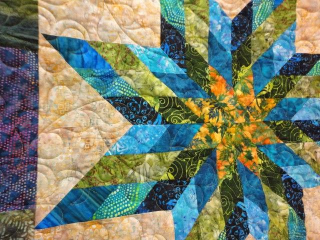 Wee Folks Heirloom Quilt Shoppe Batik Star Quilt