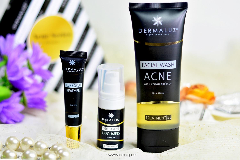Review Obat Jerawat Dermaluz Skincare Acne Series Package Noniq Wardah Treatment Gel Krim Memiliki Wajah Yang Cenderung Mudah Berjerawat Membuat Saya Cukup Aktif Melihat Lihat Produk Pembasmi Apalagi Belakangan Agak Mengurangi