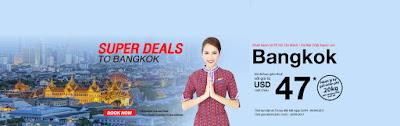 Bay đến Bangkok với giá siêu rẻ