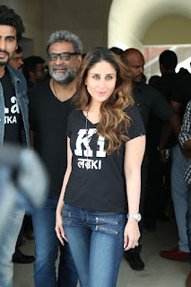 Actress Kareena Kapoor Stills in Denim Jeans at Ki & Ka Movie Pressmeet  0002