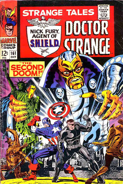 Strange Tales v1 #161 nick fury shield comic book cover art by Jim Steranko