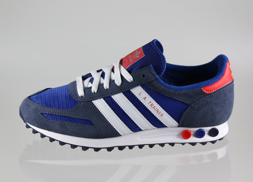finest selection 41968 778d1 ADIDAS LA TRAINER - BLUE RED WHITE