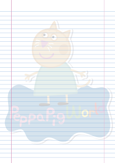 Folha Papel Pautado Candy Gata PDF para imprimir na folha A4