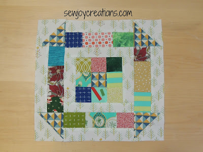 scrappy 9 churn dash block scrap patchwork block