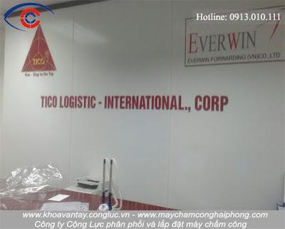 Lắp đặt máy chấm công tại công ty Tico Logistc Iternationnal, Lê Hồng Phong, Hải Phòng.