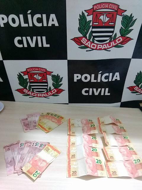 Policiais Civis de Ilha Comprida e Iguape prendem dois indivíduos com notas falsas na Ilha