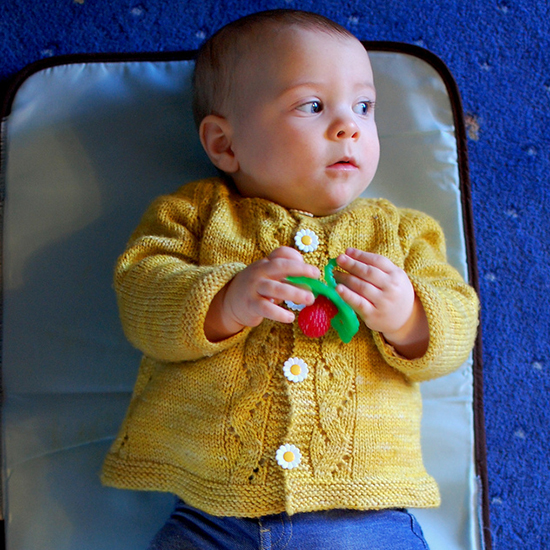 Sunnyside Sweater for Baby Free Knitting Pattern