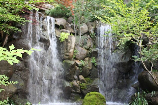 Waterfall feature at Anderson Japanese Gardens
