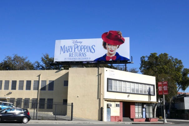 Mary Poppins Returns cut-out billboard