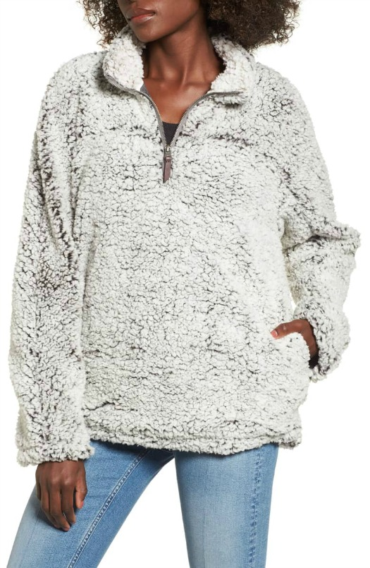 Nordstrom Cozy Fleece Pull Over