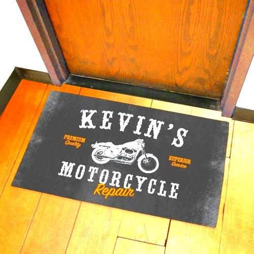 Personalized Motorcycle Repair Doormat