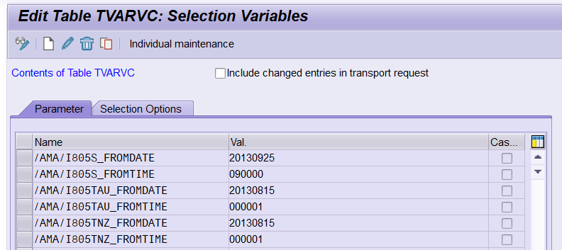 ABAP Mania: How to Include Table TVARVC Entries in Transport