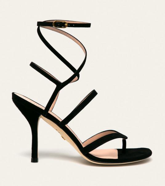 Stuart Weitzman - Sandale inalte elegante pe picior cu toc inalt din piele naturala