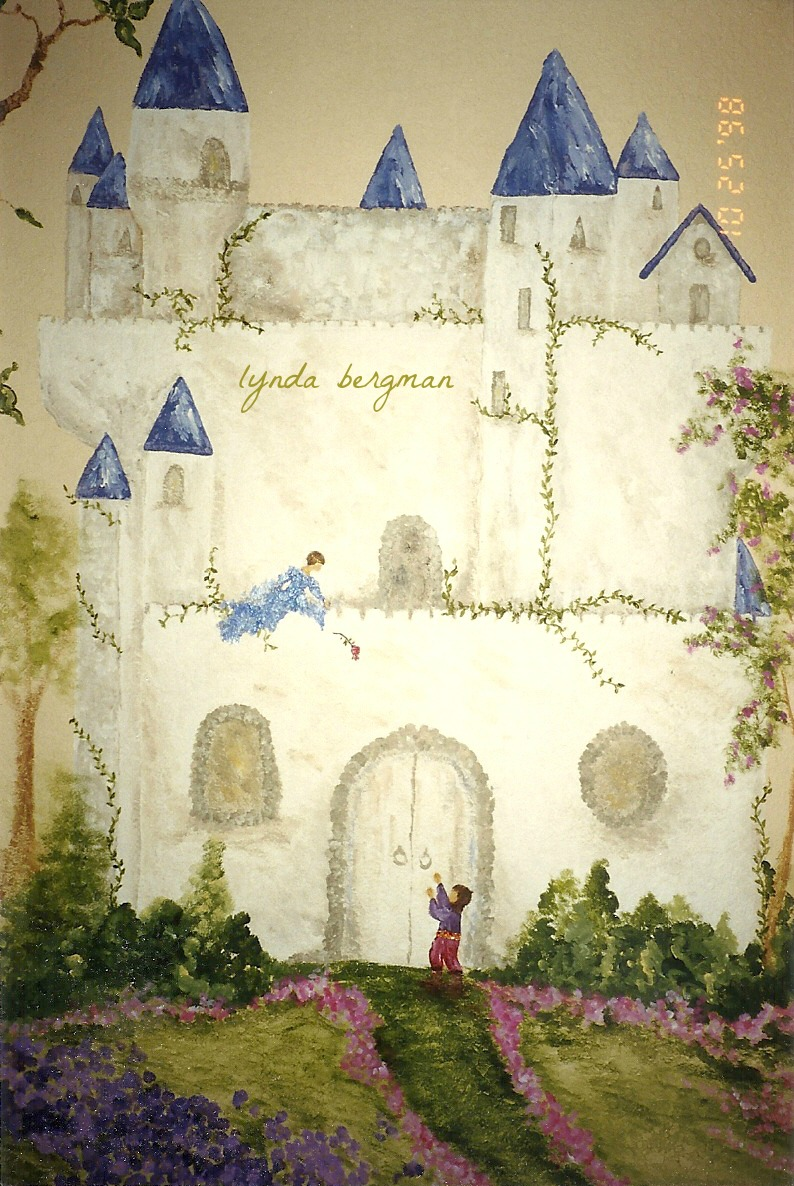 castle rose wall mural - photo #19