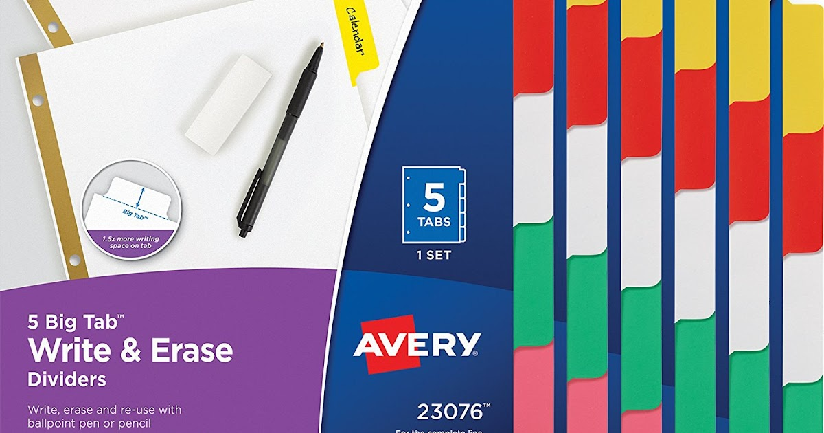 qpanion: Amazon: $5 94 (Reg  $20 31) Avery Big Tab Write-On