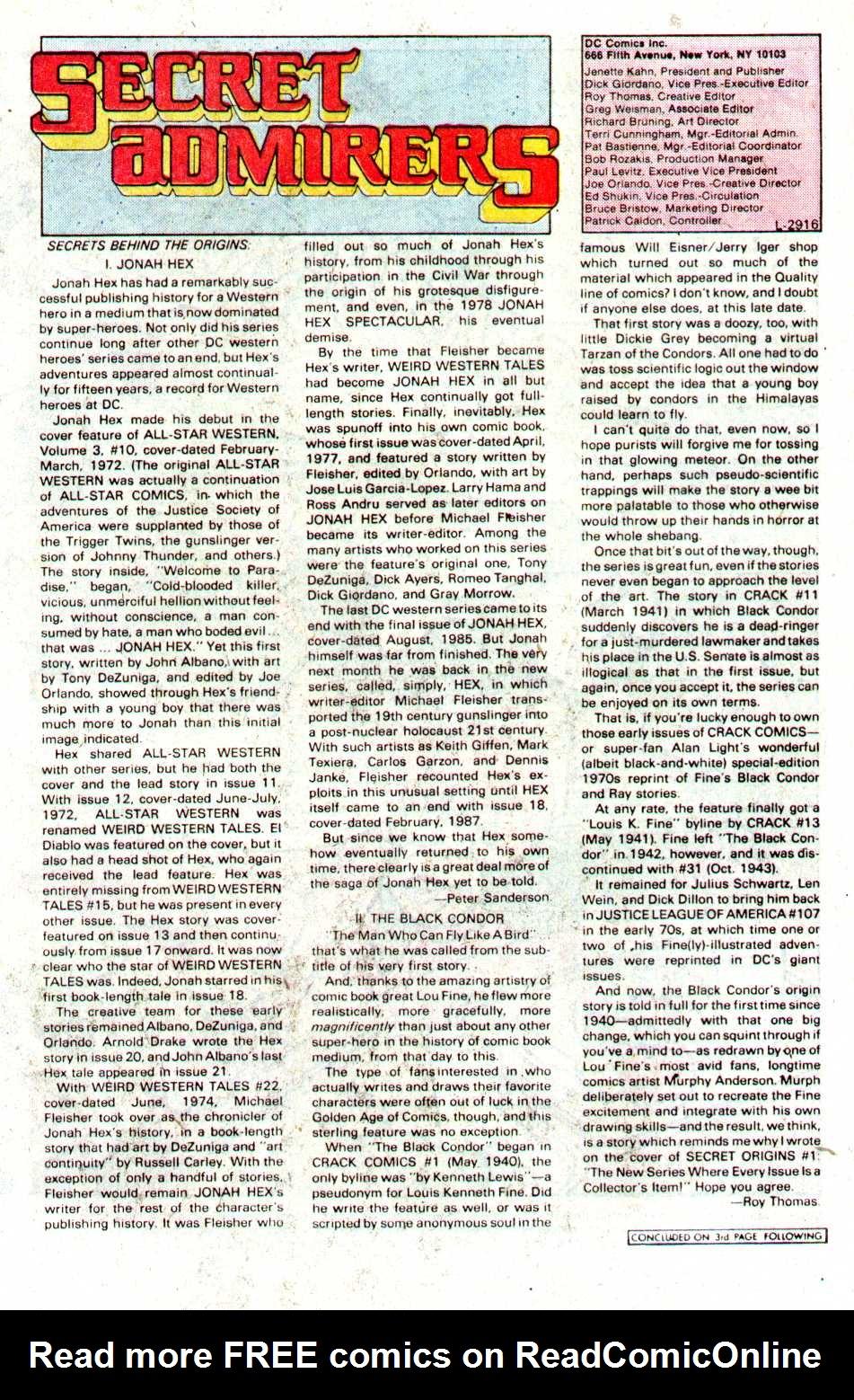Read online Secret Origins (1986) comic -  Issue #21 - 22