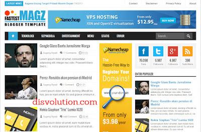Template Terbaru 2017 Fastest Magz Premium Template Blog Download Gratis