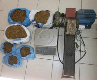 Συνελήφθησαν 2 άτομα στην Πιερία για κατοχή λαθραίου καπνού