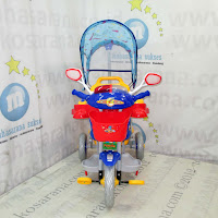 Family F7233C Police Musik Dobel Pesawat Kanopi Baby Tricycle