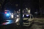 Oszlopnak ütközött egy autó Gyulán