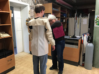 Picture of initial jacket fitting.