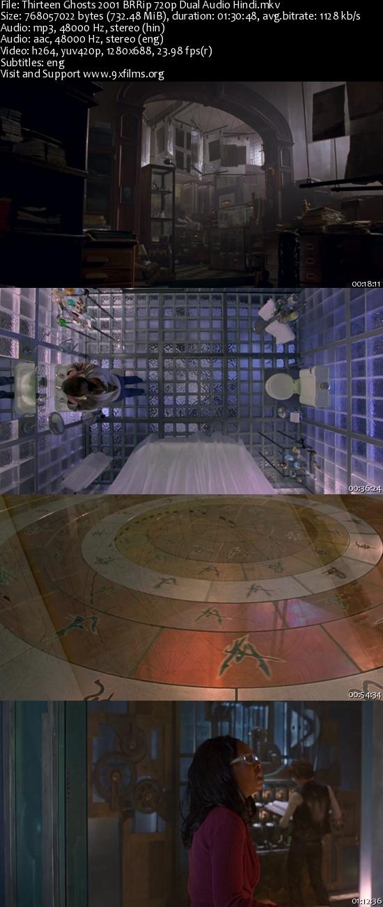 Thirteen Ghosts 2001 BRRip 720p Dual Audio Hindi 700MB
