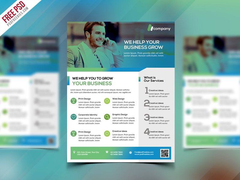 Download Clean Business Flyer Template Free Psd Free Psd Now