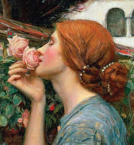 The Soul of the Rose, Pre-Raphaelite hair