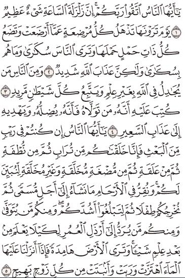 Tafsir Surat Al-Hajj Ayat 1, 2, 3, 4, 5