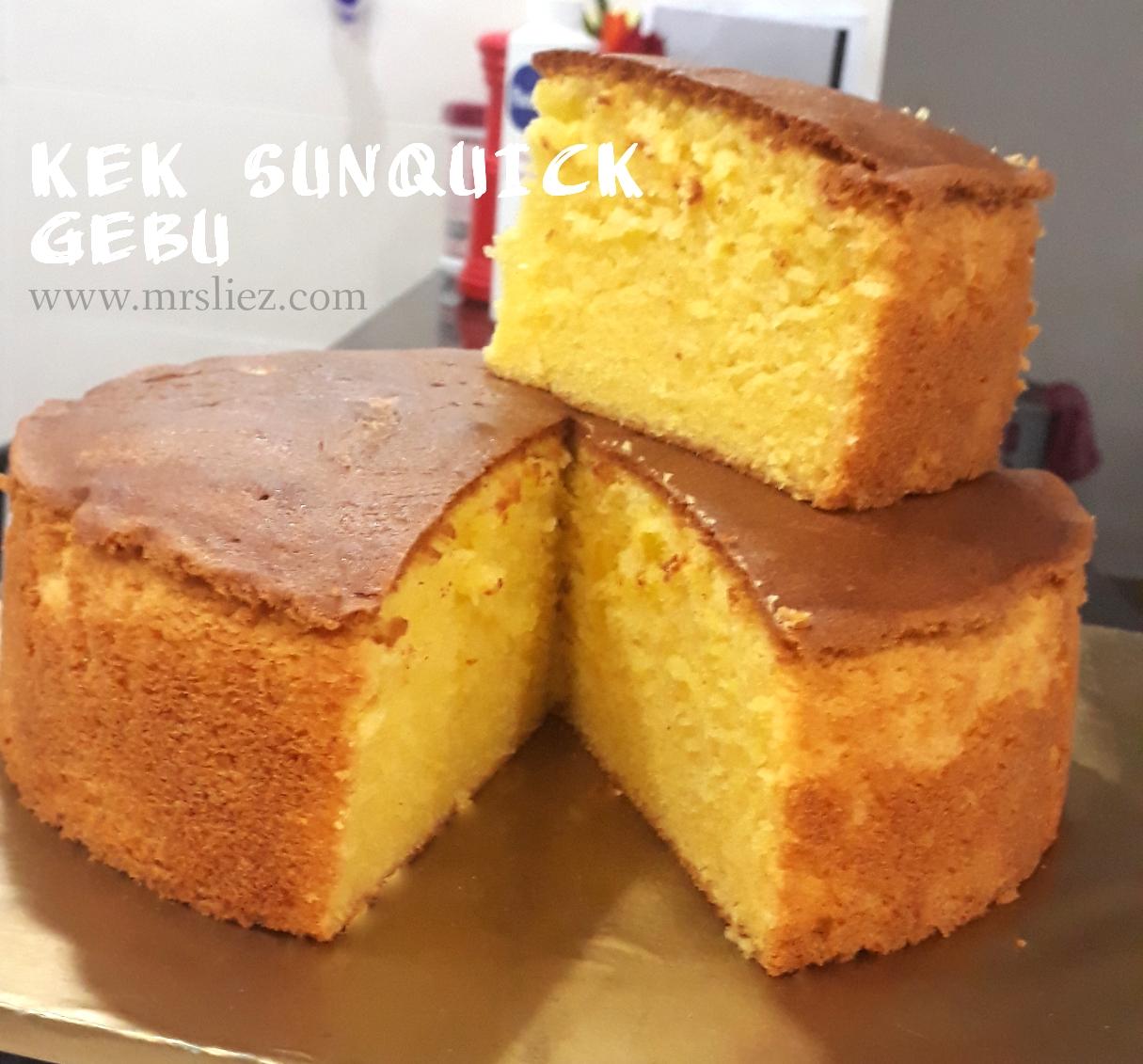 Resepi Kek Sunquick Gebu Mrs Liez Malaysian Lifestyle