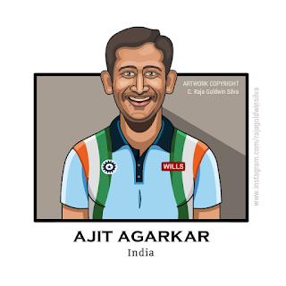 Ajit Agarkar Caricature Cartoon