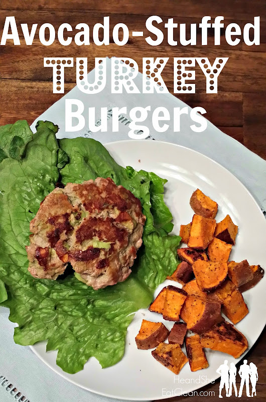 Easy Avocado-Stuffed Turkey Burgers ~ He and She Eat Clean