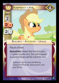 My Little Pony Applejack's Hat High Magic CCG Card