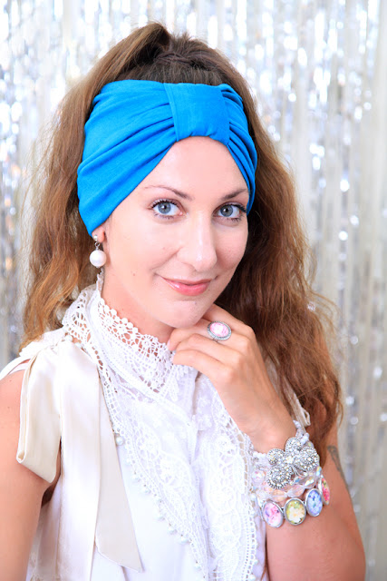Turban Headband in Turquoise by Mademoiselle Mermaid