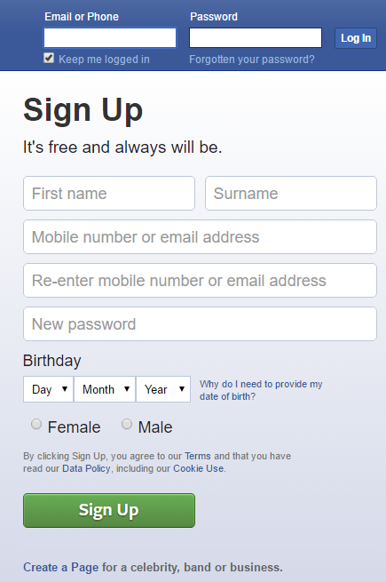 How to Create Account on Facebook