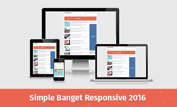 Simple Banget Responsive Blogger Template