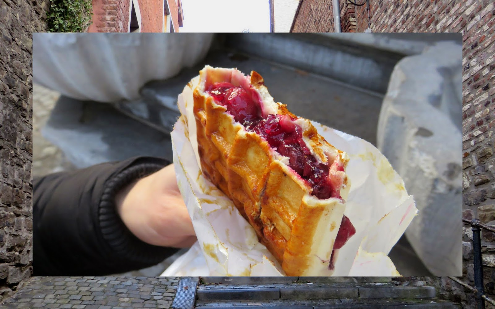 8 Reasons to Visit Belgium for a Christmas: Fruit-filled Belgian waffles from Liege