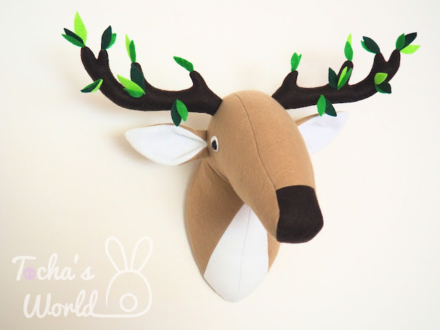 deer, stag, felt, polyester, tree, leaves, green, woods, forest, antlers, horns, home decor, trophy, go green, deer, stag, felt, polyester, tree, leaves, green, woods, forest, antlers, horns, home decor, trophy, go green,