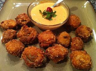 Low Carb Deep Fried Mushrooms - Low Carb, Gluten Free | Peace Love and Low Carb