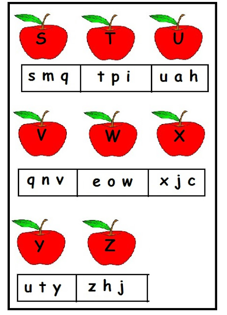 A to Z upper and lower case worksheet