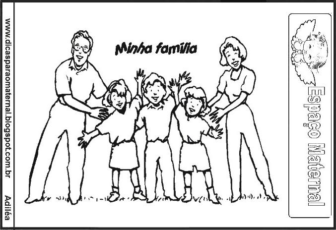 DESENHOS DE FAMÍLIAS FRASES FAMÍLIA IMPRIMIR E COLORIR