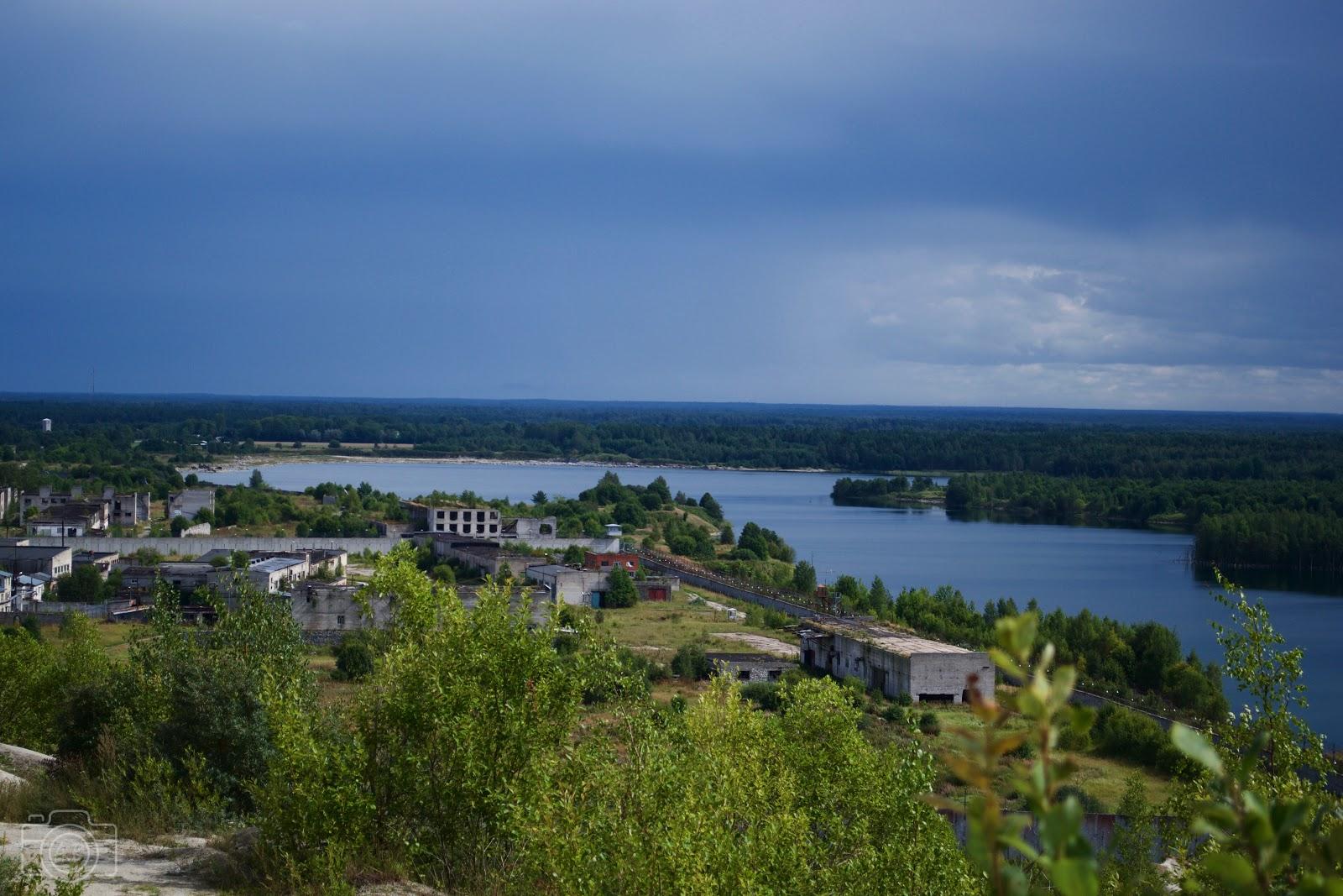 Prison de Rummu, paysage, lac