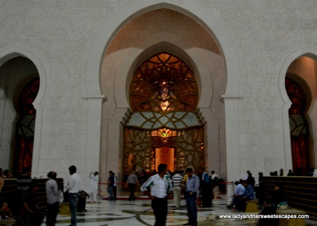 Sheikh Zayed Grand Mosque's entrance to the main prayer hall