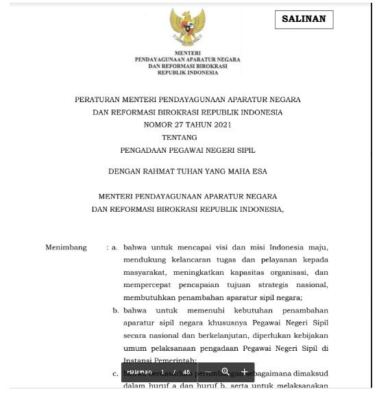 Inilah Kisi Kisi Materi Soal- Soal SKD CPNS 2021
