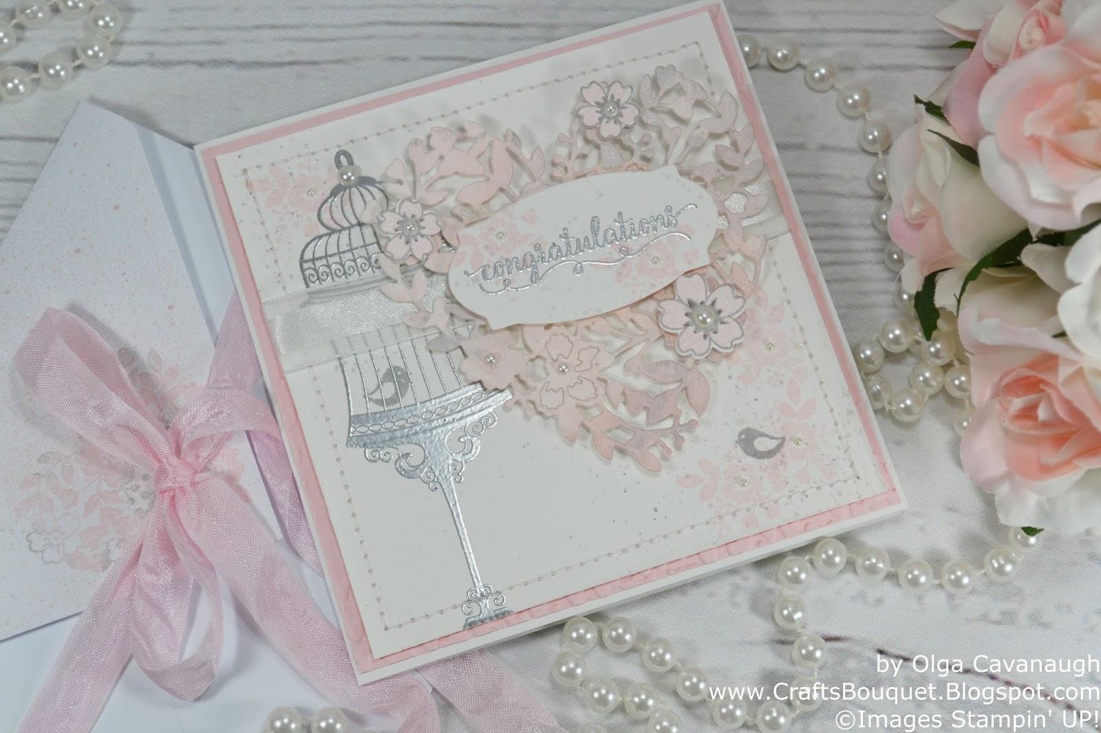 Crafts Bouquet: Stampin\'Up! Wedding Card