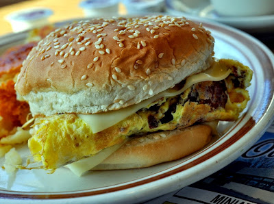 Bacon, Egg, and Cheese Sandwich at George's Oasis Restaurant in Allentown, PA | Taste As You Go