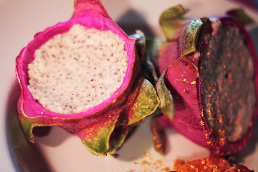 veganes dessert mango drachenfrucht