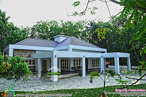 2913 square feet work completed 4 bedroom home in Kerala