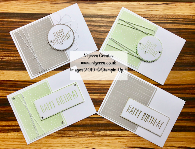 Male Card OSW by Nigezza Creates Using Stampin' Up! Twinkle Twinkle DSP